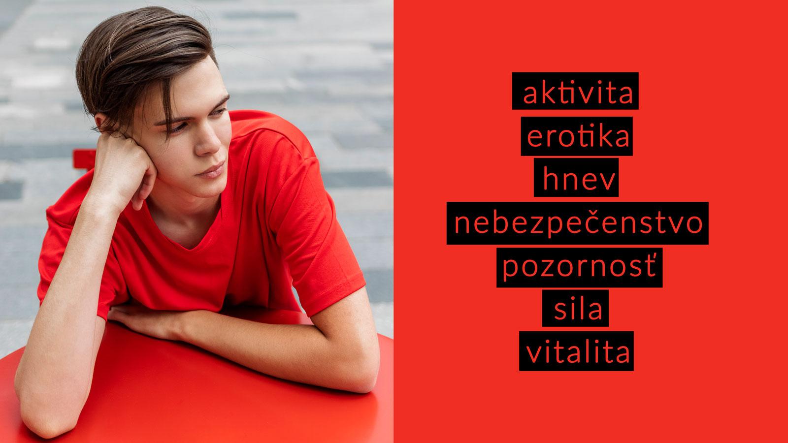 Peter Plichta psychológia farieb vo fotke červená