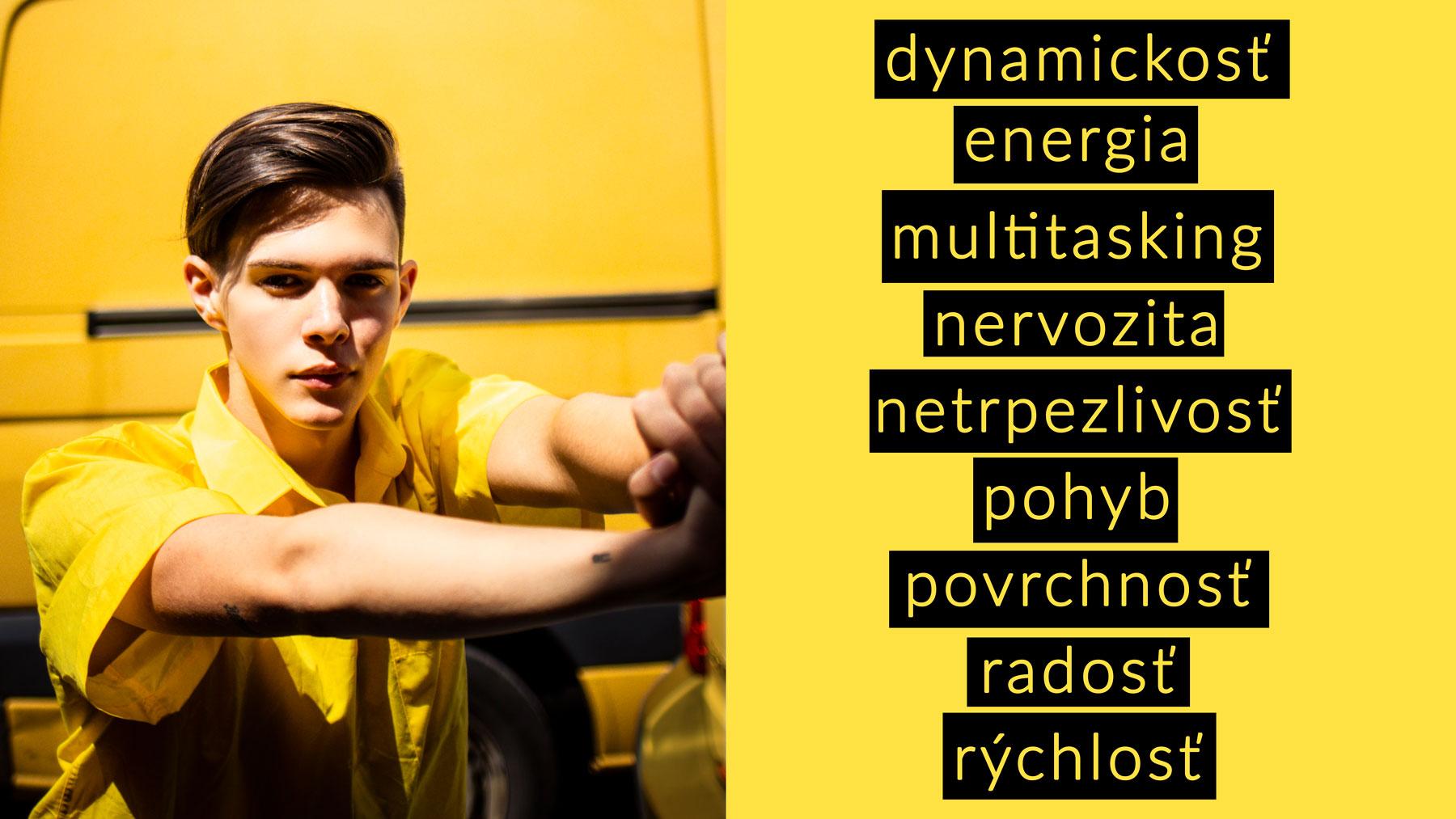 Peter Plichta psychológia farieb vo fotke žltá