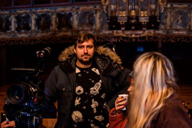 Fotky z natáčania filmu Bytosť - kameraman Tomáš Andrle