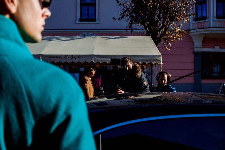 Fotky z natáčania filmu Bytosť - Kežmarok